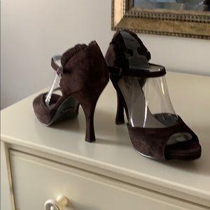 Fergie Suede high heel sandals